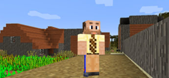 Yellow Shirt Dad with Tie / Minecraft Skin Preview