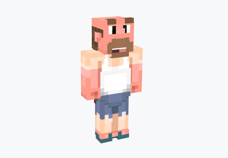 Greg Universe Dad in White Tanktop / Minecraft Skin