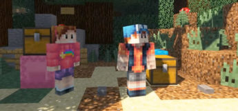 Mable and Dipper Pines in Minecraft