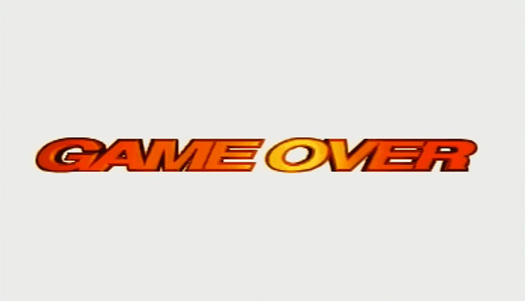Sega Rally Championship (1994) Game Over Screen