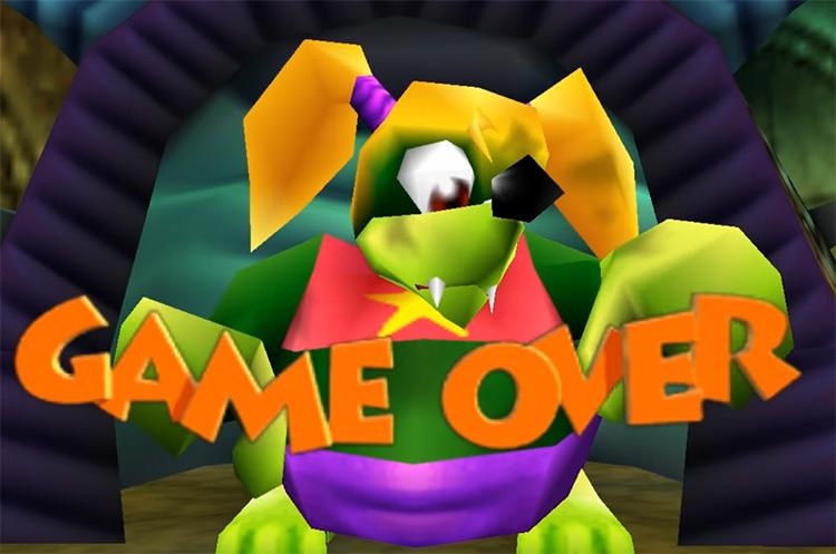 Banjo-Kazooie (1998) Game Over Screen