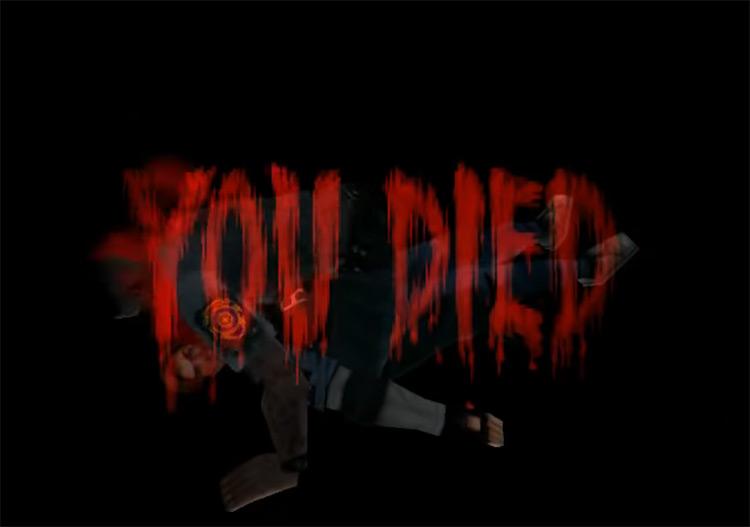 Resident Evil 2 (1998) Game Over Screen