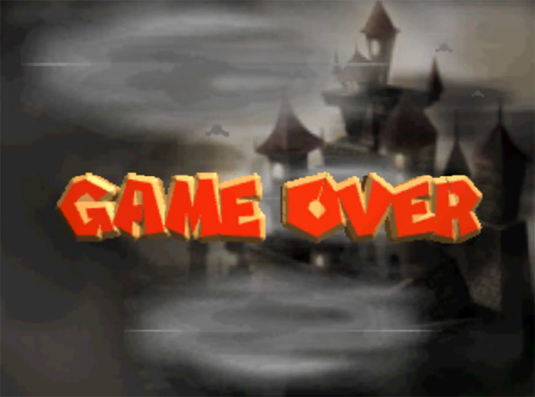 Yoshi's Story (1998) Game Over Screen