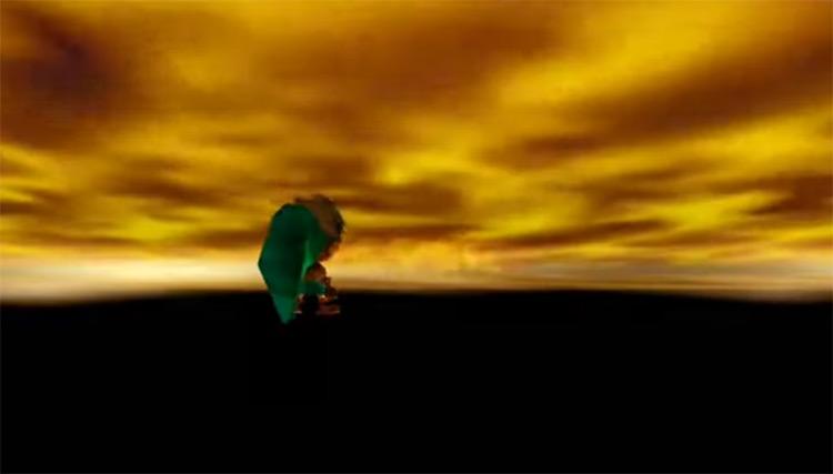 Legend of Zelda: Majora's Mask Game Over Screen