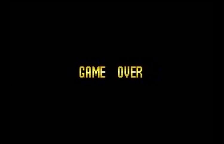 Super Mario World Game Over Screenshot