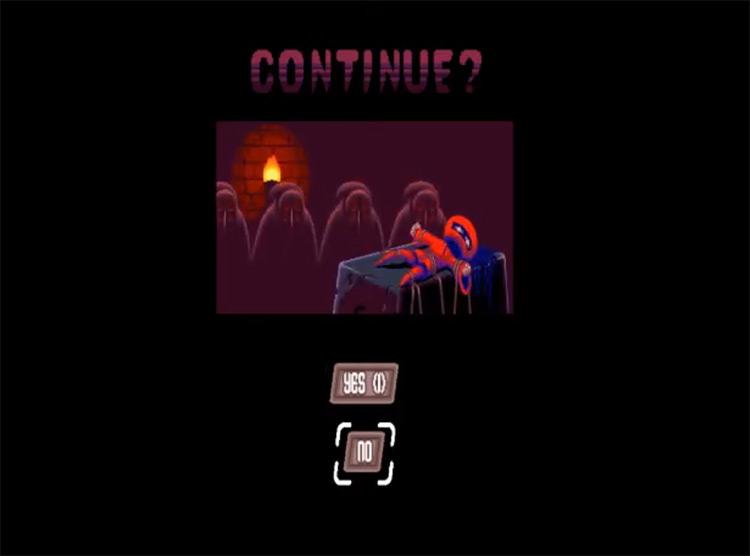 Super House of Dead Ninjas (2013) Game Over Screen