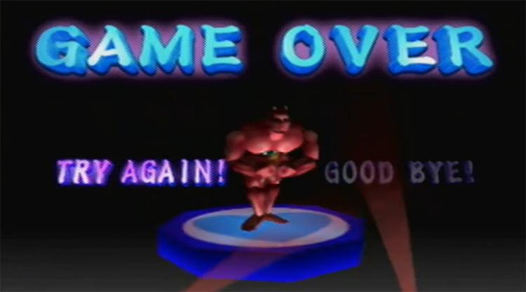 Goemon's Great Adventure (1998) Game Over Screen
