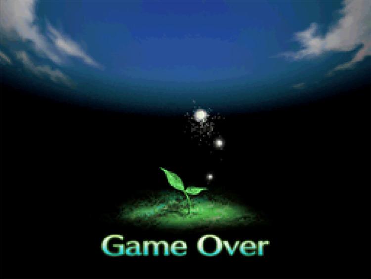 Etrian Odyssey (2007) Game Over Screen