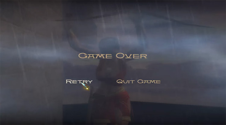 Prince of Persia: The Sands of Time (2003) Game Over Screen