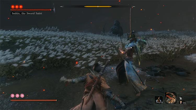 Sword Saint Isshin in Sekiro: Shadows Die Twice game