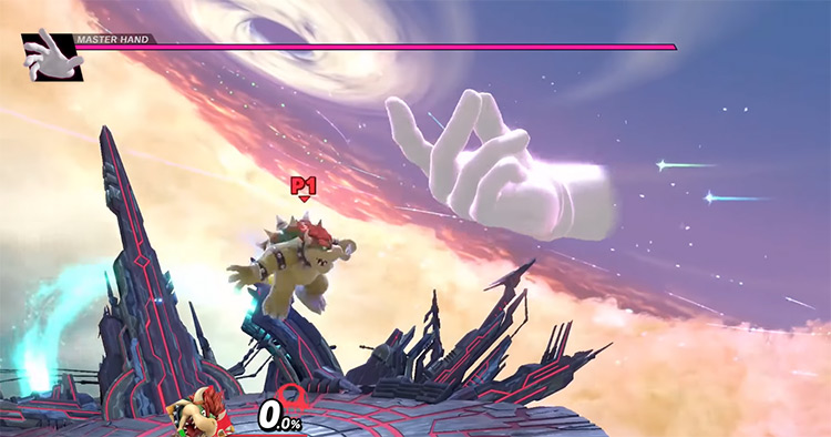 Master Hand Super Smash Bros. gameplay