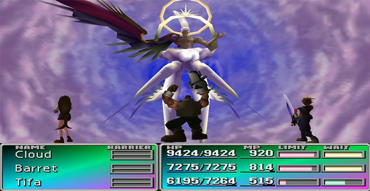 Sephiroth Final Fantasy VII gameplay
