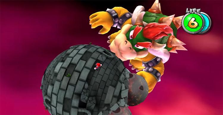 Bowser in Super Mario Galaxy 2 game screenshot