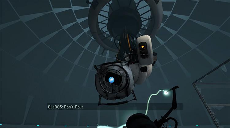 Wheatley in Portal 2 game