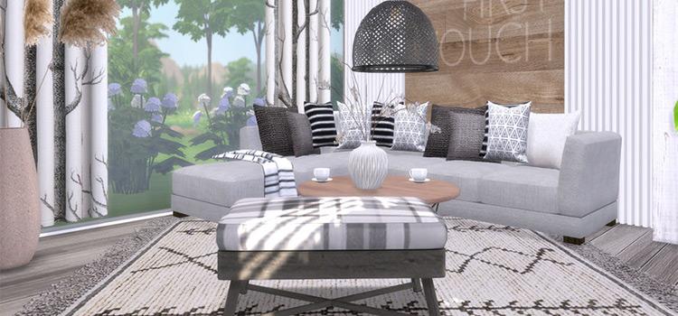 Akira Living CC Set Preview / The Sims 4