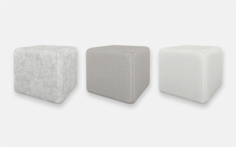 Upholstered Ottoman CC for The Sims 4