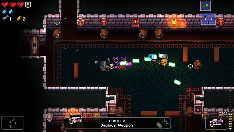Enter the Gungeon Gunther gameplay screenshot