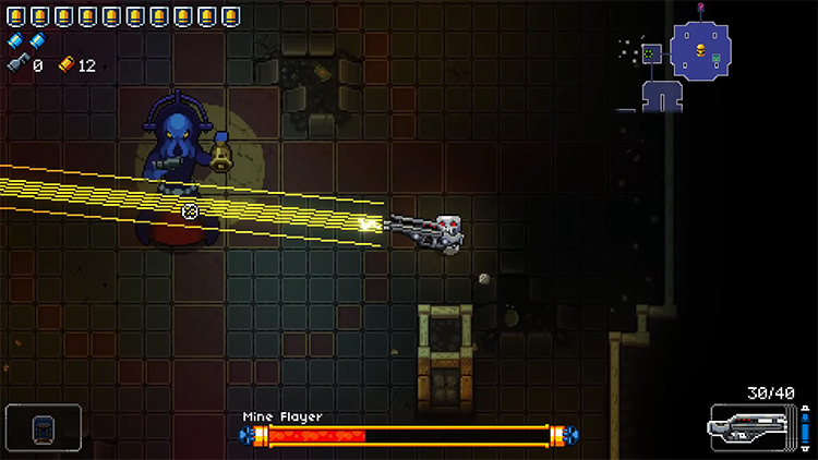 Enter the Gungeon Prototype Railgun gameplay screenshot
