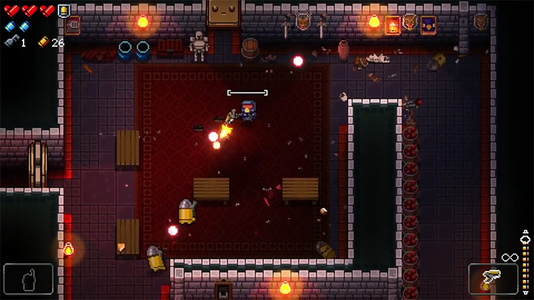 Enter the Gungeon Marine Sidearm gameplay screenshot