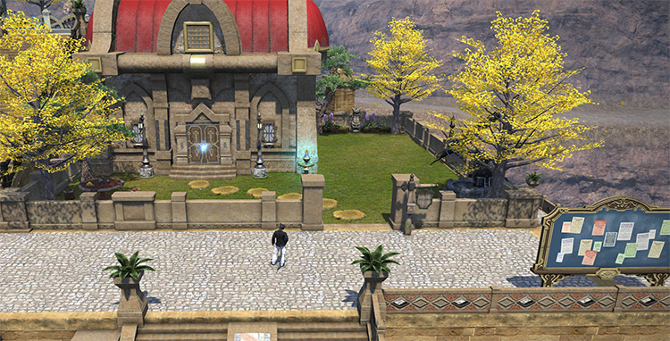 House as an empty lot in FFXIV