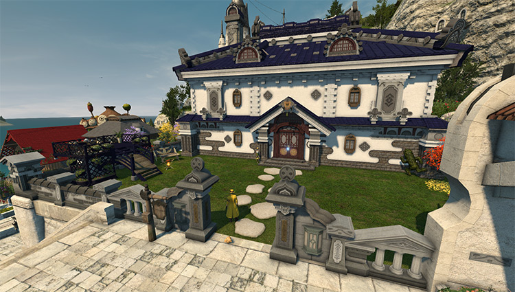Medium-sized house lot preview in FFXIV