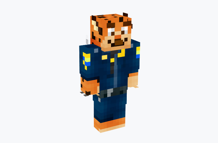 Officer Clawhouser from Zootopia / Minecraft Skin