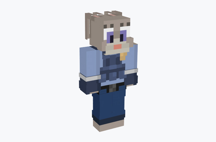 Juddy Hopps from Zootopia / Minecraft Skin