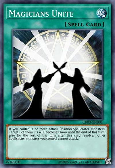 Magicians Unite YGO Card