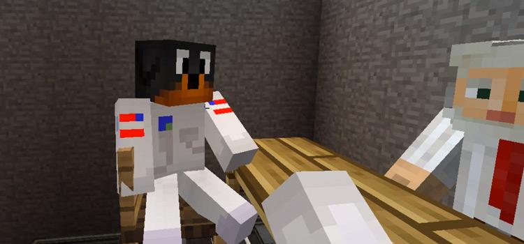 Dog in Astronaut Suit in Minecraft