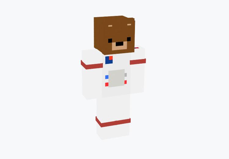 Space Bear in Astronaut Suit / Minecraft Skin