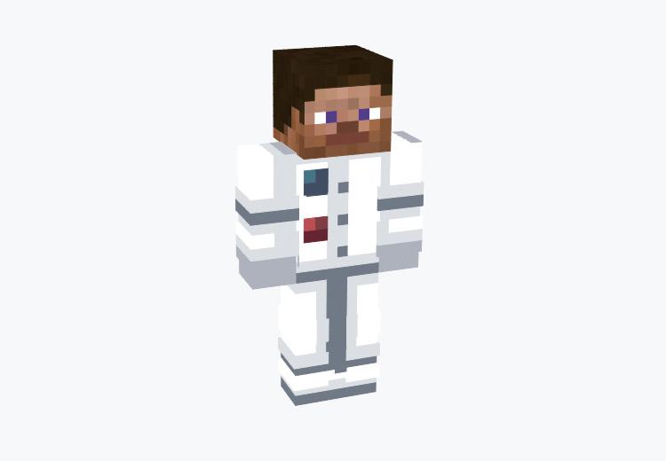 Steve in Astronaut Suit / Minecraft Skin