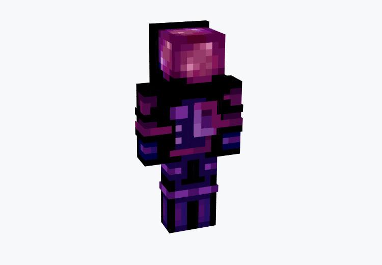 Dark Purple Faceless Astronaut / Minecraft Skin