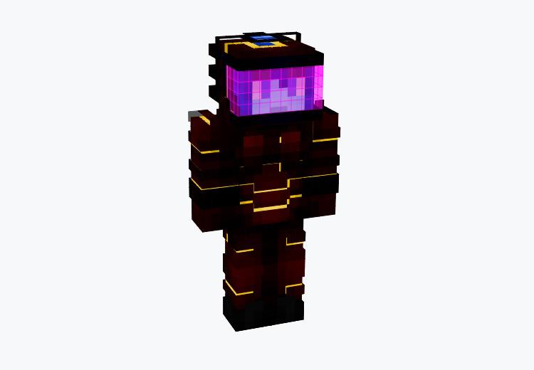 Lapis Netherite Suit Character / Minecraft Skin