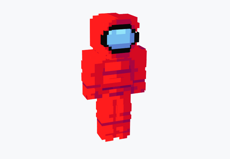 Red Crewmate from Among Us / Minecraft Skin