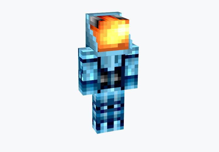 Space Explorer in Blue / Minecraft Skin
