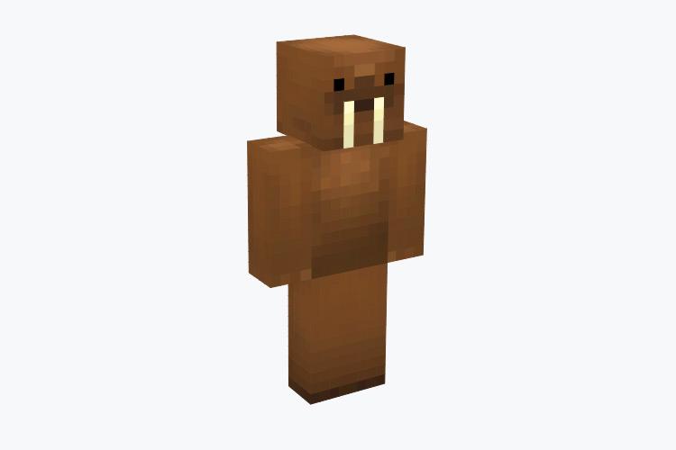 Brown Walrus with Tusks / Minecraft Skin