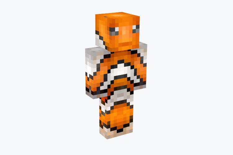 Orange Clown Fish / Minecraft Skin