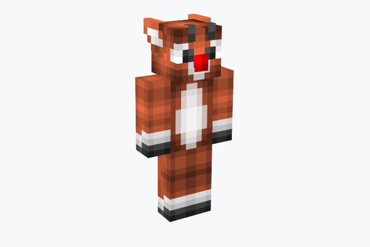 Rudolph The Red Nosed Reindeer / Minecraft Skin
