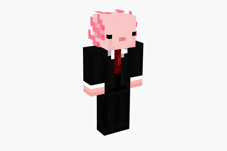 Professional Axolotl in a Suit / Minecraft Skin