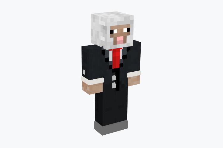 Tuxedo Sheep / Minecraft Skin