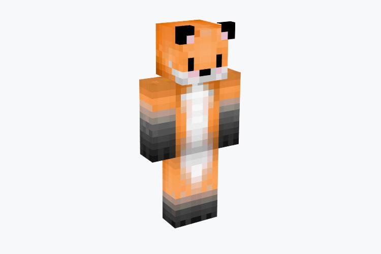 Gradient Orange Fox / Minecraft Skin