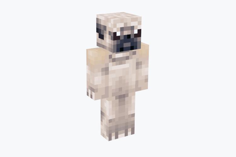 Realistic-looking Pug / Minecraft Skin