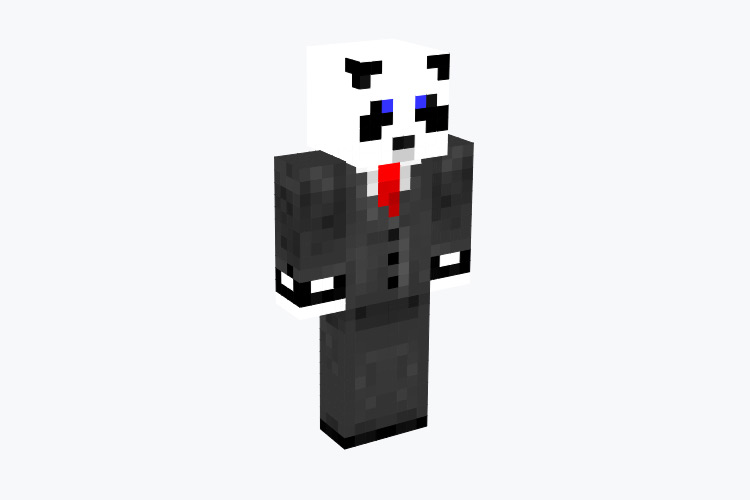 Professional Panda in Business Suit / Minecraft Skin