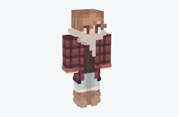 Boy Dressed For Autumn with Scarf / Minecraft Skin