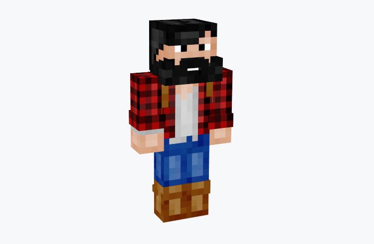 Hiker in Blue Jeans & Flannel / Minecraft Skin