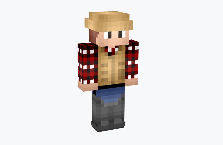 River Fisherman in Flannel / Minecraft Skin