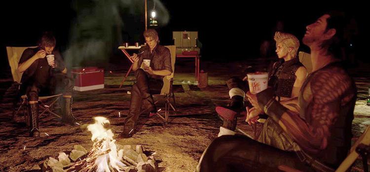 FFXV Camping and Eating Screenshot