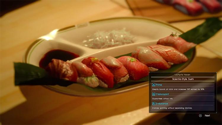 Scientia-Style Sushi / FFXV screenshot