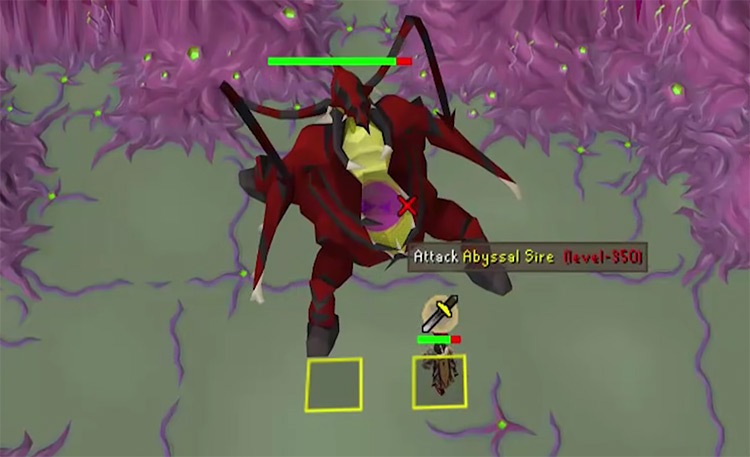 Abyssal Sire in OSRS screenshot