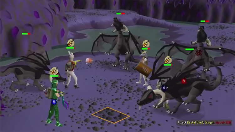 Brutal Black Dragons in OSRS screenshot